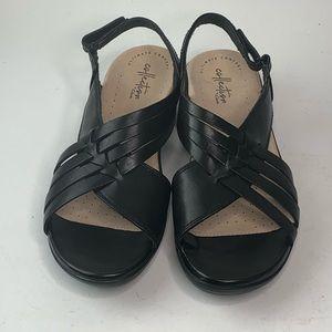 CLARKS Women's Loomis Cassey Sandal, Black NEW